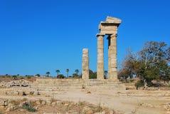 Rhodes Landmark Acropolis royaltyfri foto