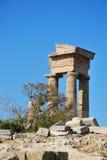 Rhodes Landmark Acropolis royaltyfri bild