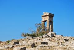 Rhodes Landmark Acropolis arkivfoton