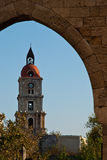 Rhodes Landmark Clock Tower arkivbild
