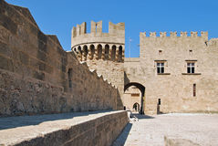 Rhodes Landmark Grandmasters Palace. Greece. Old town Royalty Free Stock Images