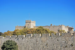 Rhodes Landmark Grandmasters Palace. Greece. Old town royalty free stock photo