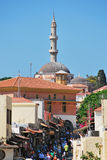Rhodes Landmark Suleiman Mosque. Greece. Old town Royalty Free Stock Photo