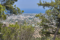 Rhodes landscape. From the high mountain stock photos
