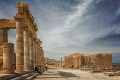 Rhodes Lindos Acropolis Editorial foto de stock