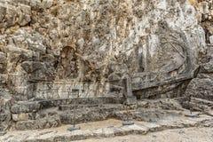 Rhodes Lindos Acropolis Rhodian Trireme photographie stock libre de droits