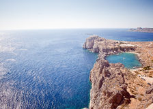 Rhodes, Lindos bay Royalty Free Stock Photography