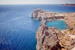 Rhodes, Lindos bay Stock Photography