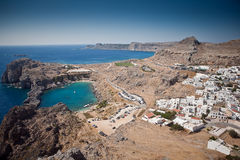 Rhodes, Lindos bay Stock Photos