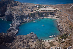 Rhodes, Lindos bay Royalty Free Stock Image