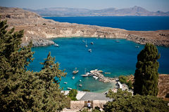 Rhodes, Lindos bay Royalty Free Stock Images