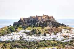 Rhodes - Lindos Royalty Free Stock Photo