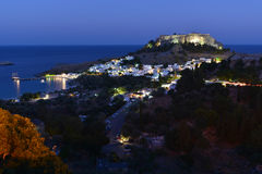 Rhodes, Lindos. Rhodes Island, View on Lindos Town royalty free stock photo