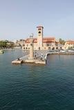 Rhodes Mandraki harbour. Greece Stock Image