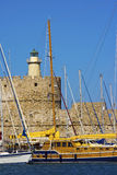 Rhodes Mandraki Harbour. Stock Image