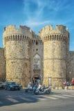 Rhodes Marina bramy artykuł wstępny obrazy royalty free