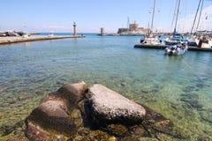Rhodes Marina Stock Photo