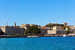 Rhodes medieval castle Stock Photography