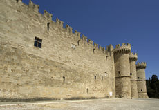 Rhodes Medieval Knights Castle, Greece Stock Photography