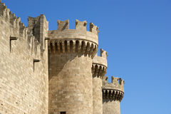 Rhodes Medieval Knights Castle (Palace), Greece Stock Photo