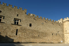 Rhodes Medieval Knights Castle (Palace), Greece Stock Image