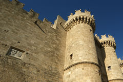 Rhodes Medieval Knights Castle (Palace), Greece Stock Photos