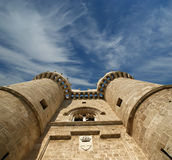 Rhodes Medieval Knights Castle (Palace), Greece Stock Photography