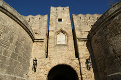 Rhodes Medieval Knights Castle (Palace), Greece Stock Images