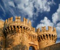 Rhodes Medieval Knights Castle (Palast), Griechenland Stockbilder