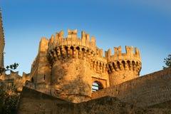 Rhodes Medieval Knights Castle (Palast), Griechenland Lizenzfreies Stockfoto