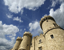 Rhodes Medieval Knights Castle (Palast), Griechenland Stockfotos