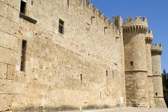 Rhodes Medieval Knights Castle (Palast), Griechenland Lizenzfreie Stockfotos