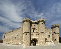 Rhodes Medieval Knights Castle, panoramic view Stock Image
