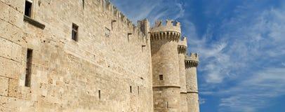 Rhodes Medieval Knights Castle (slott), Grekland Royaltyfria Foton