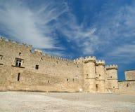 Rhodes Medieval Knights Castle (slott), Grekland Royaltyfri Foto