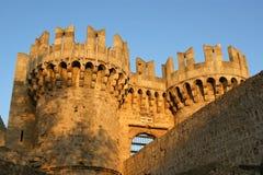 Rhodes Medieval Knights Castle (slott), Grekland Royaltyfri Bild
