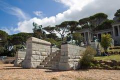 Rhodes Memorial i Cape Town arkivbilder