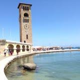 Rhodes miasta nabrzeże Zdjęcie Stock