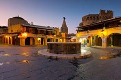Rhodes miasteczko zdjęcie stock