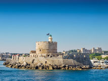 Rhodes morza forteca obraz royalty free