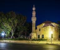 rhodes Murad Mosque Res gammala moroccan muslim för huvudkyrkogårdfes Fotografering för Bildbyråer