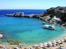 Rhodes na plaży fotografia royalty free