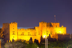 Rhodes Night Foto de Stock Royalty Free