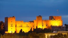 Rhodes noc Obraz Royalty Free