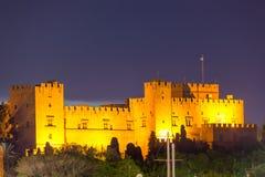 Rhodes noc Zdjęcie Royalty Free
