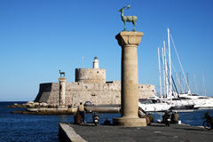 Rhodes old port Stock Photography