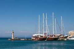 Rhodes old port, Greece Royalty Free Stock Photography