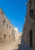 Rhodes old town, Avenue of the Knights. Medieval City of Rhodes, Greece, Avenue of the Knights Royalty Free Stock Photos