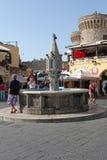 Rhodes Old Town-Brunnen Griechenland Lizenzfreie Stockfotos