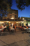 Rhodes Old town cafe by night. Greece Royalty Free Stock Photography